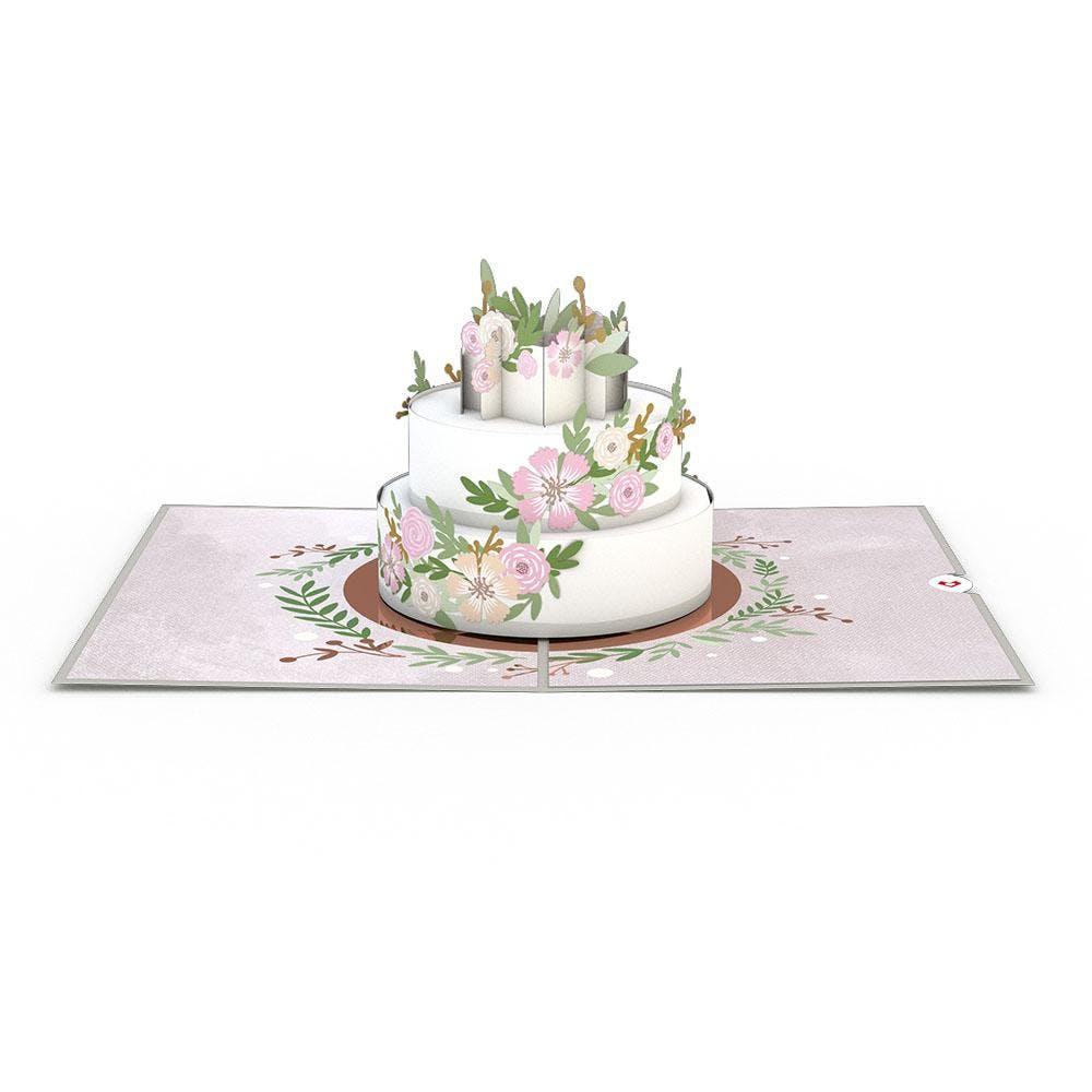 Hochzeitstorte, Pop-Up Karte