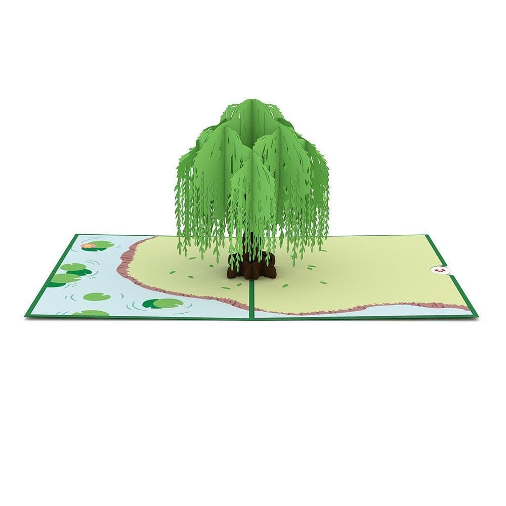 Weidenbaum, Pop-Up Karte