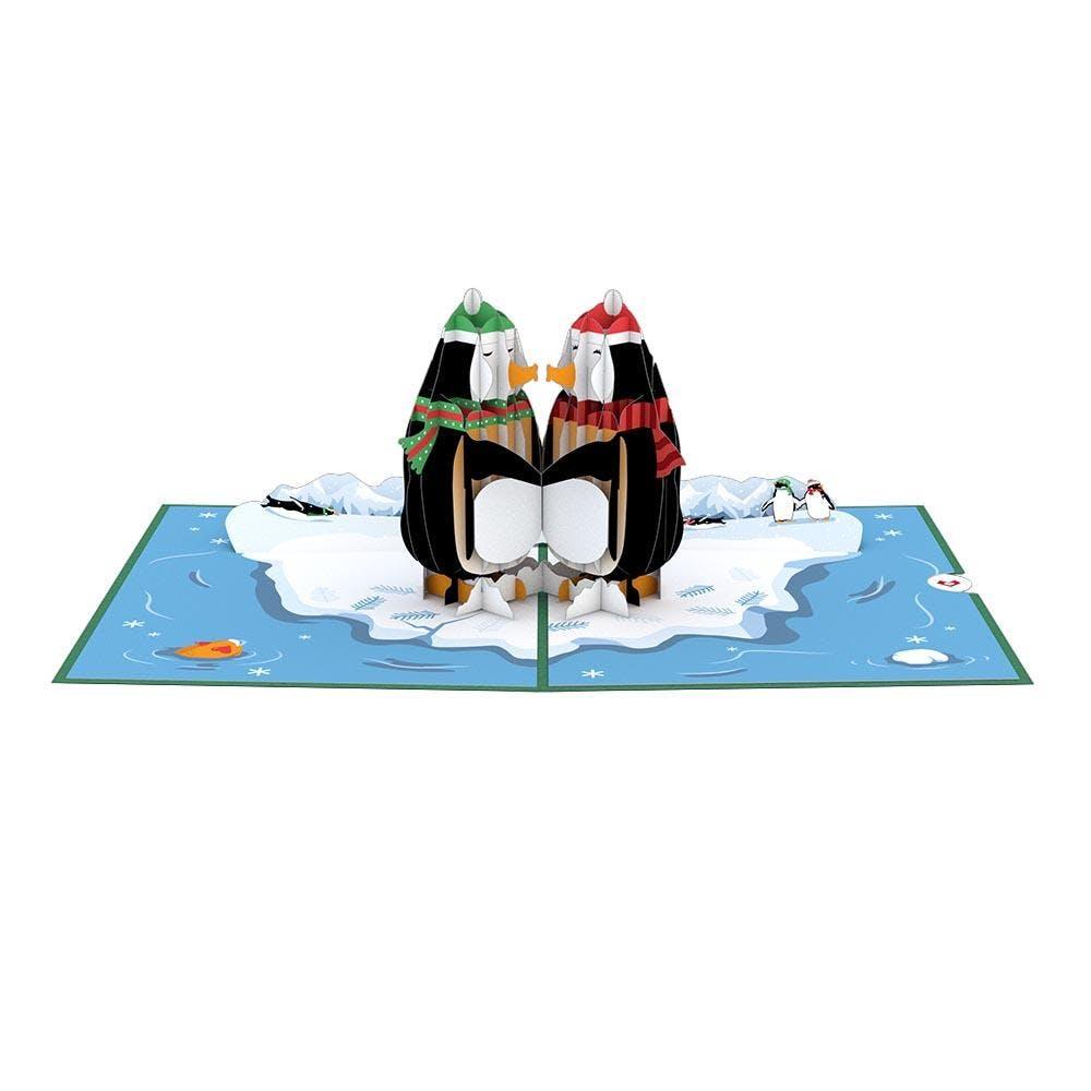 Pinguine, Pop-Up Karte