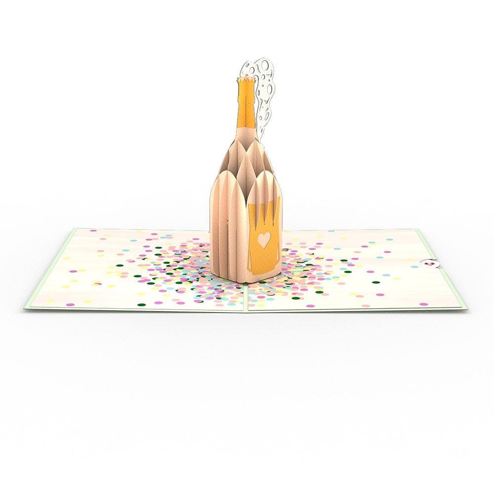 Champagner-Plopp, Pop-Up Karte