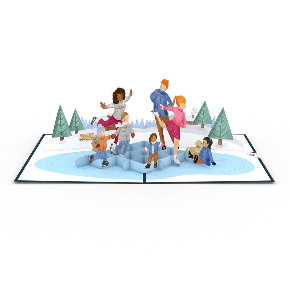 Schlittschuhlaufen, Pop-Up Karte