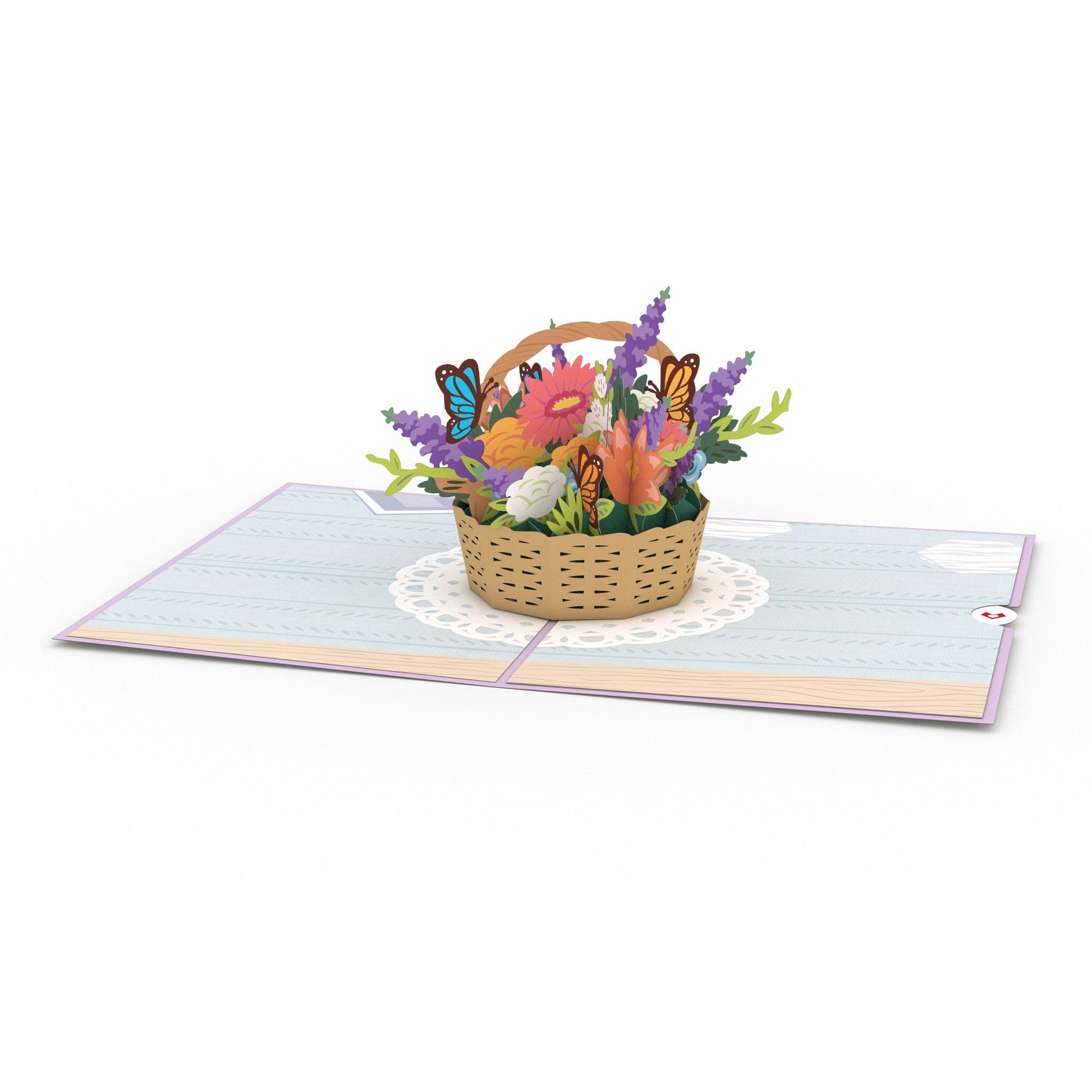 Muttertagsblumen, Pop-Up Karte