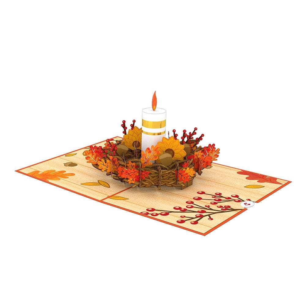 Herbstkerze, Pop-Up Karte