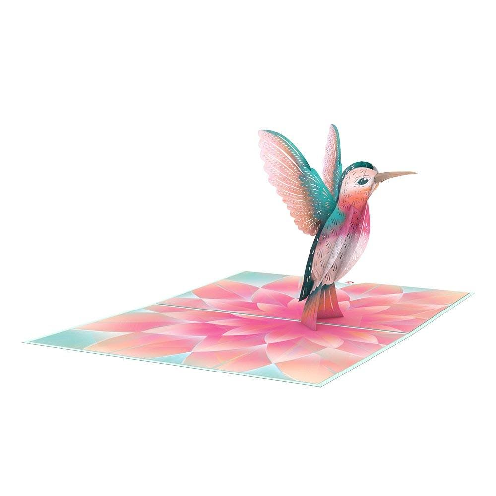 Kolibri, Pop-Up Karte