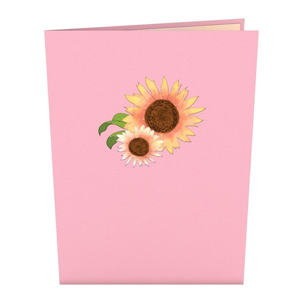 Sonnenblume, Pop-Up Karte