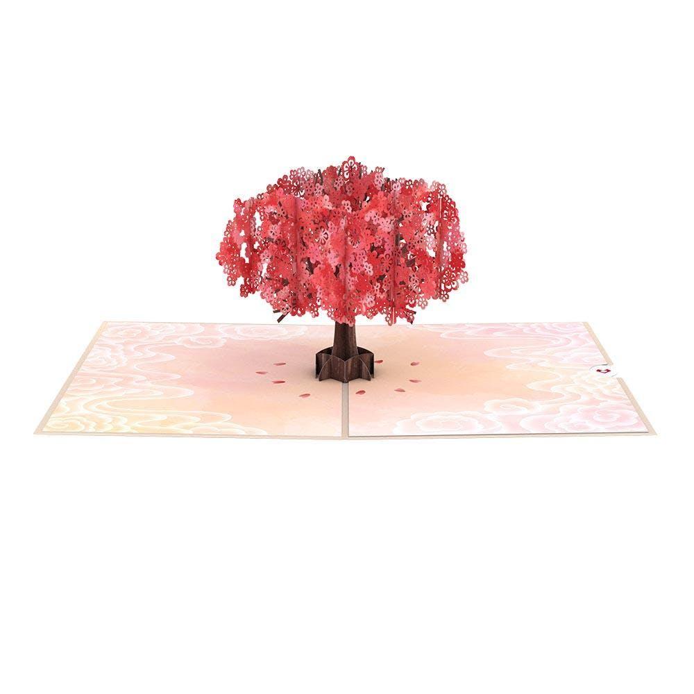 "Roter Sakura-Baum ""Muttertag"", Pop-Up Karte"
