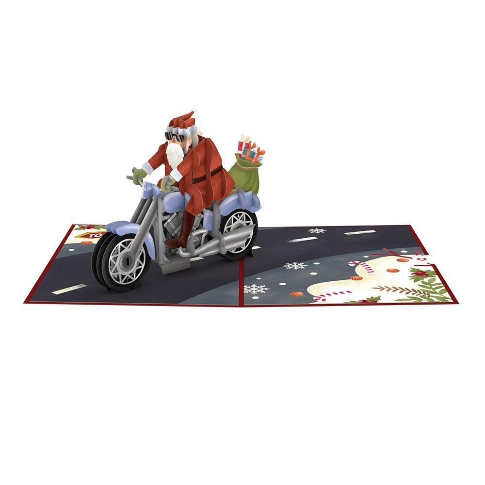 Biker-Nikolaus, Pop-Up Karte