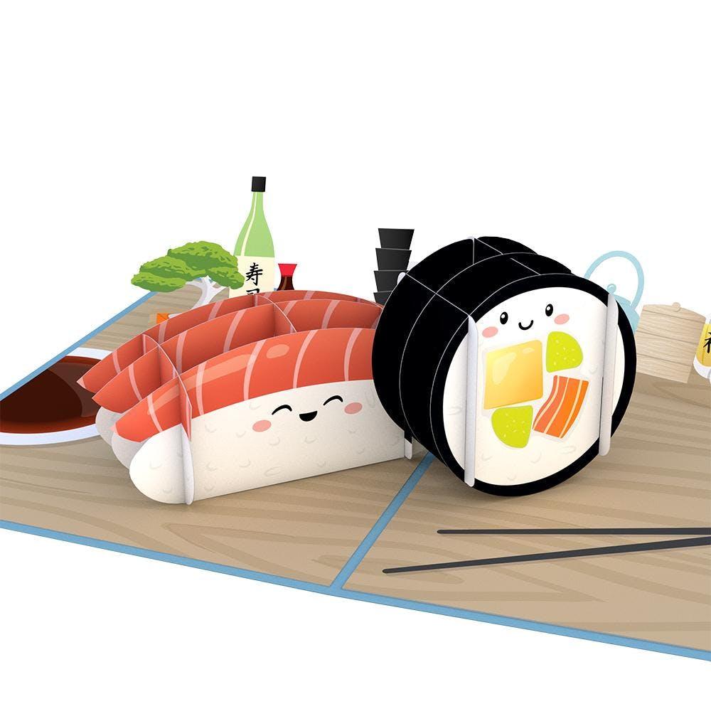 Sushi, Pop-Up Karte