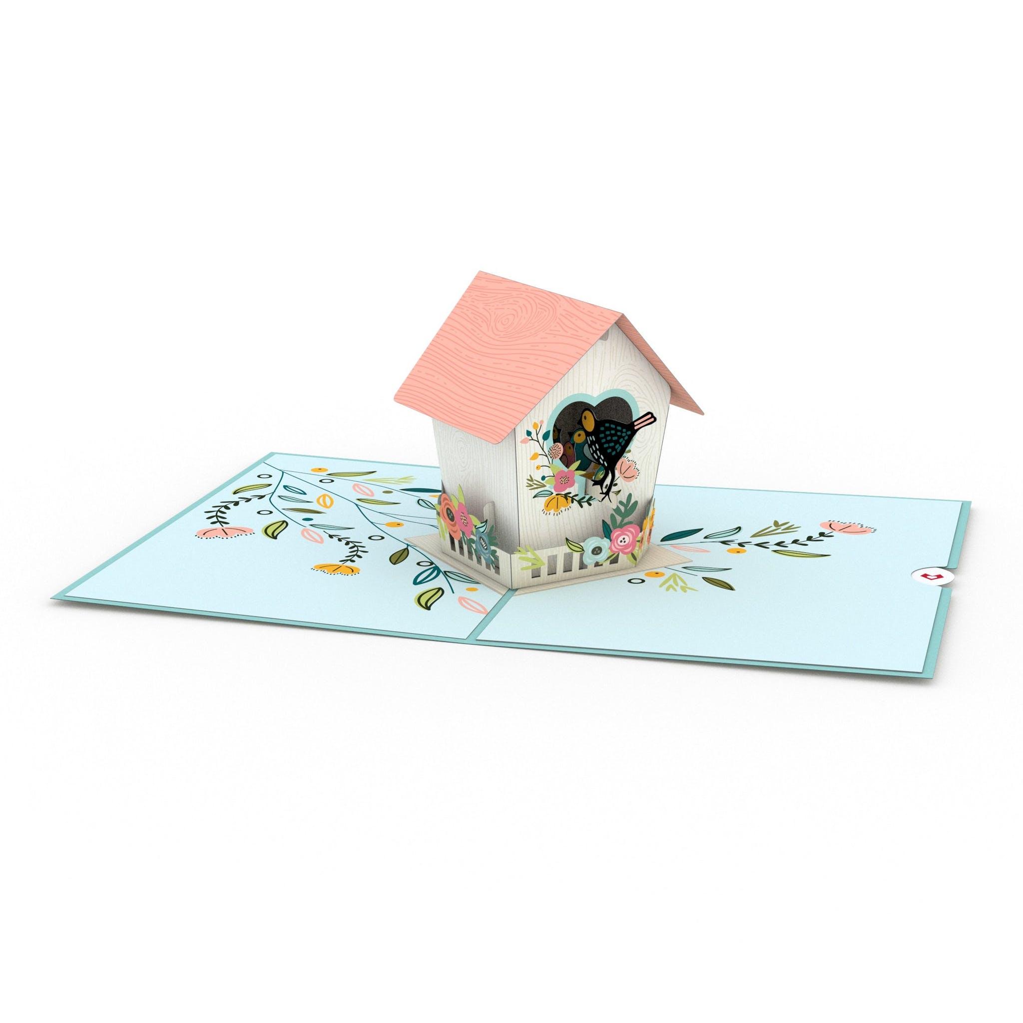 Vogelhäuschen, Pop-Up Karte