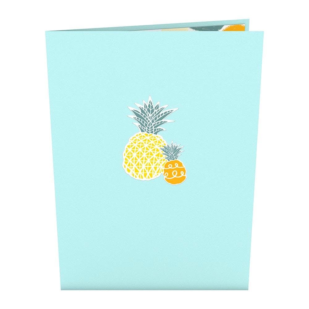 Ananas, Pop-Up Karte