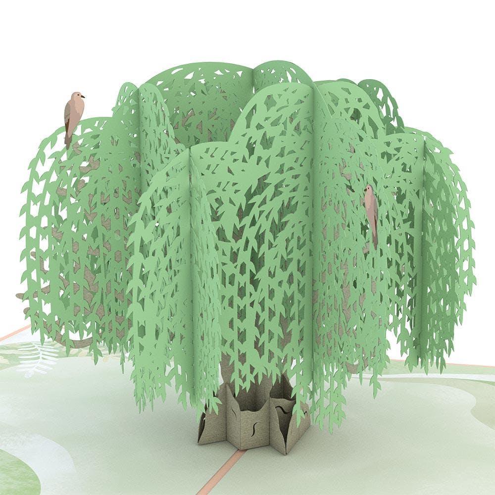 Beileids-Baum, Pop-Up Karte