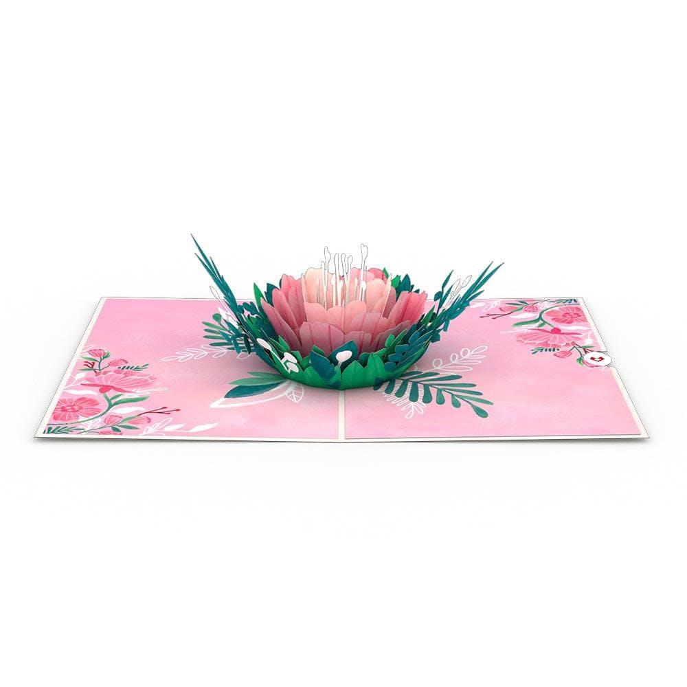 Blühende Gartenrose, Pop-Up Karte