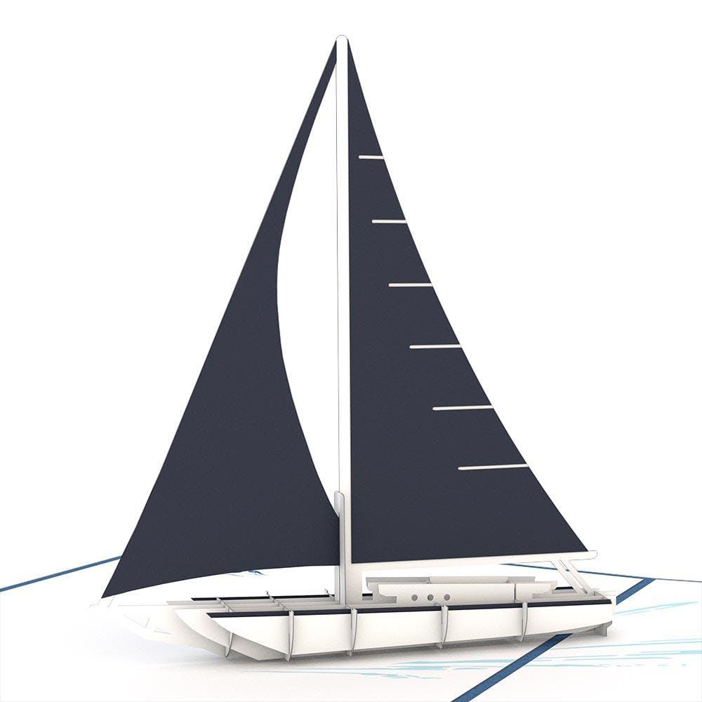Segelschiff, Pop-Up Karte