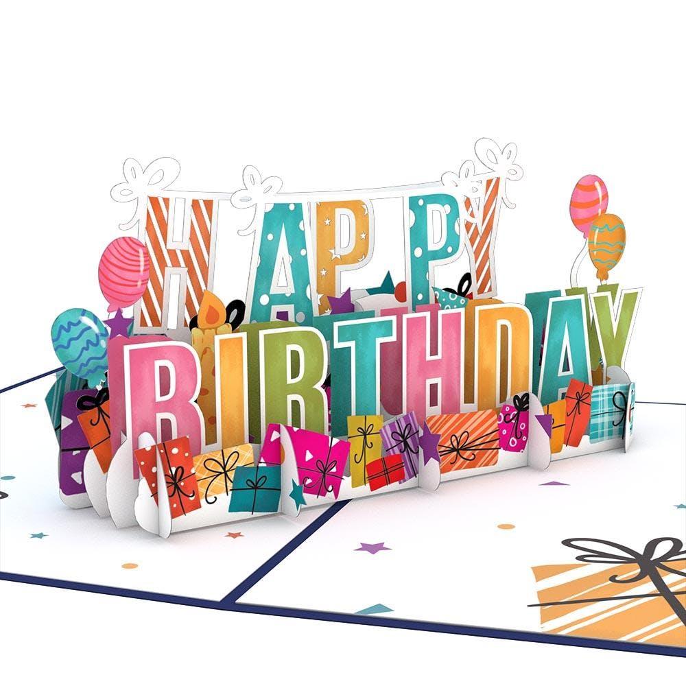Happy Birthday, Pop-Up Karte