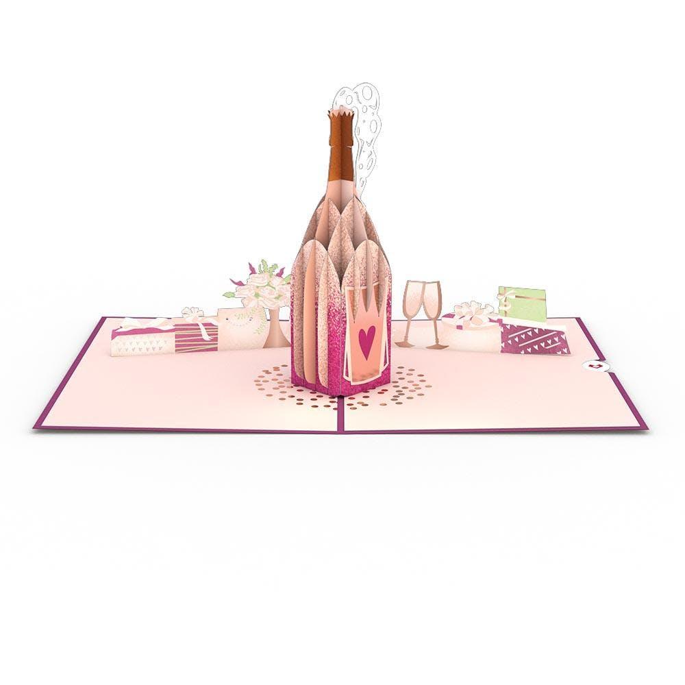 Hochzeitschampagner, Pop-Up Karte