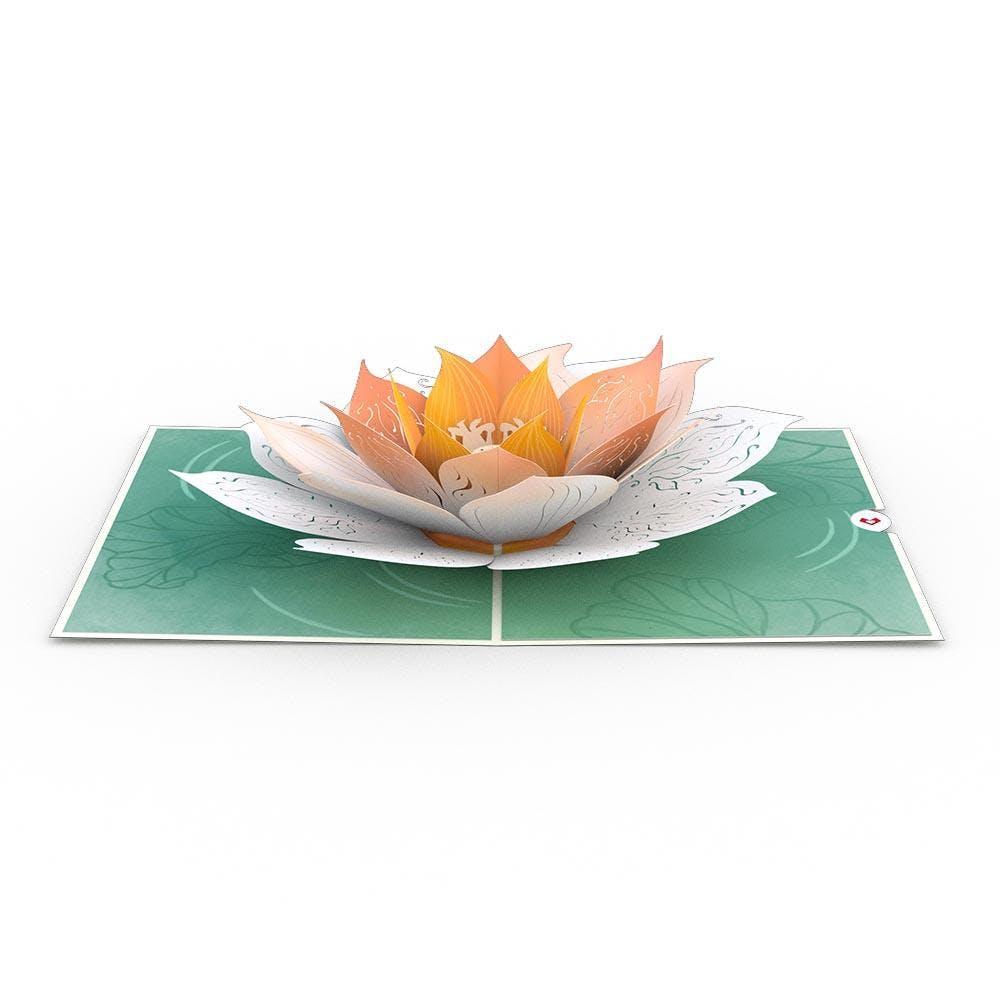Lotusblüte, Pop-Up Karte