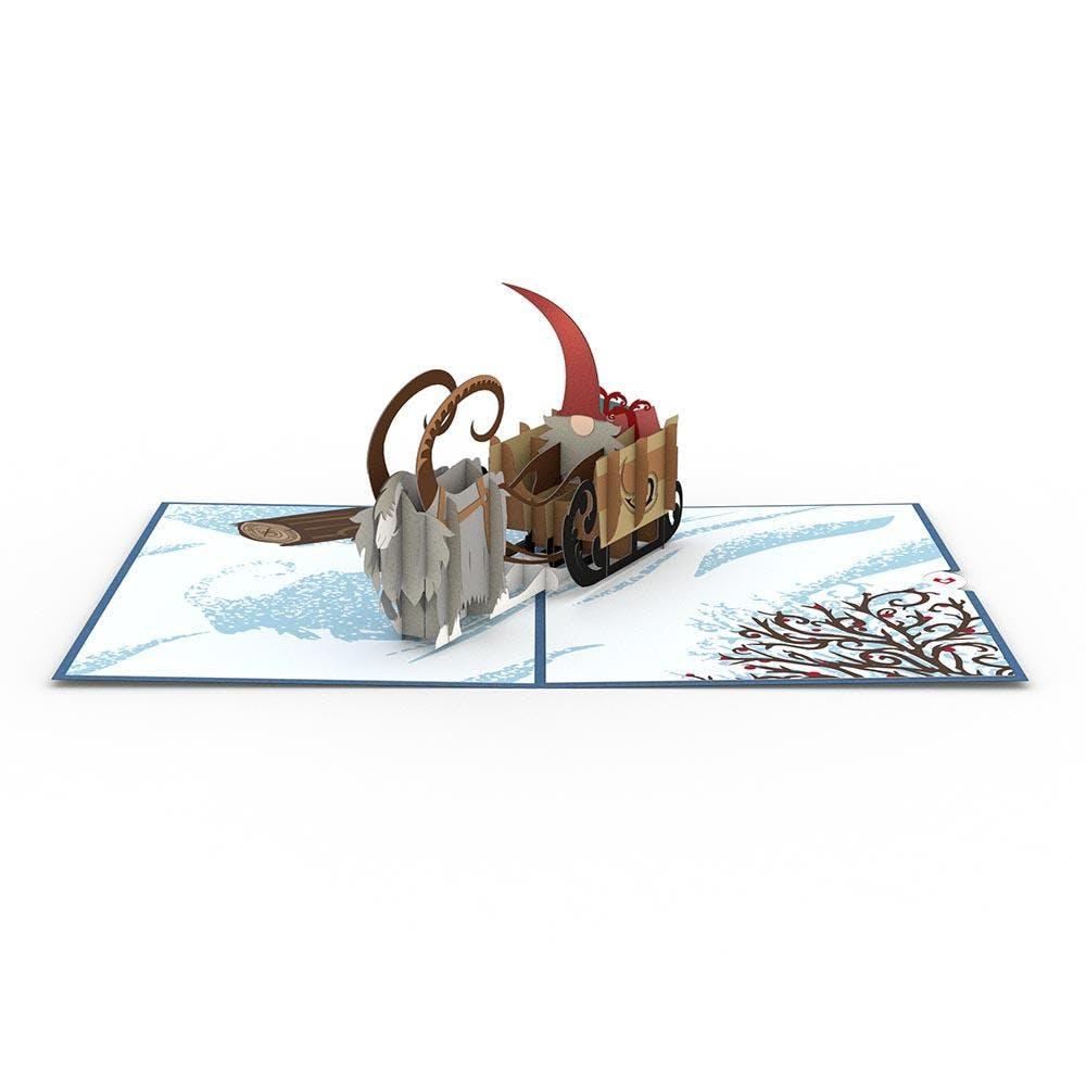 Nordischer Wichtelschlitten, Pop-Up Karte