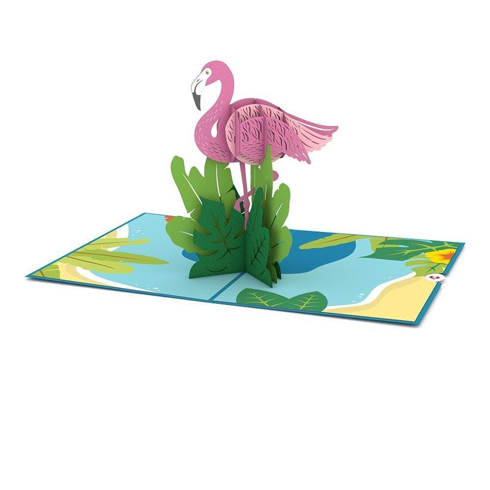 Flamingo, Pop-Up Karte