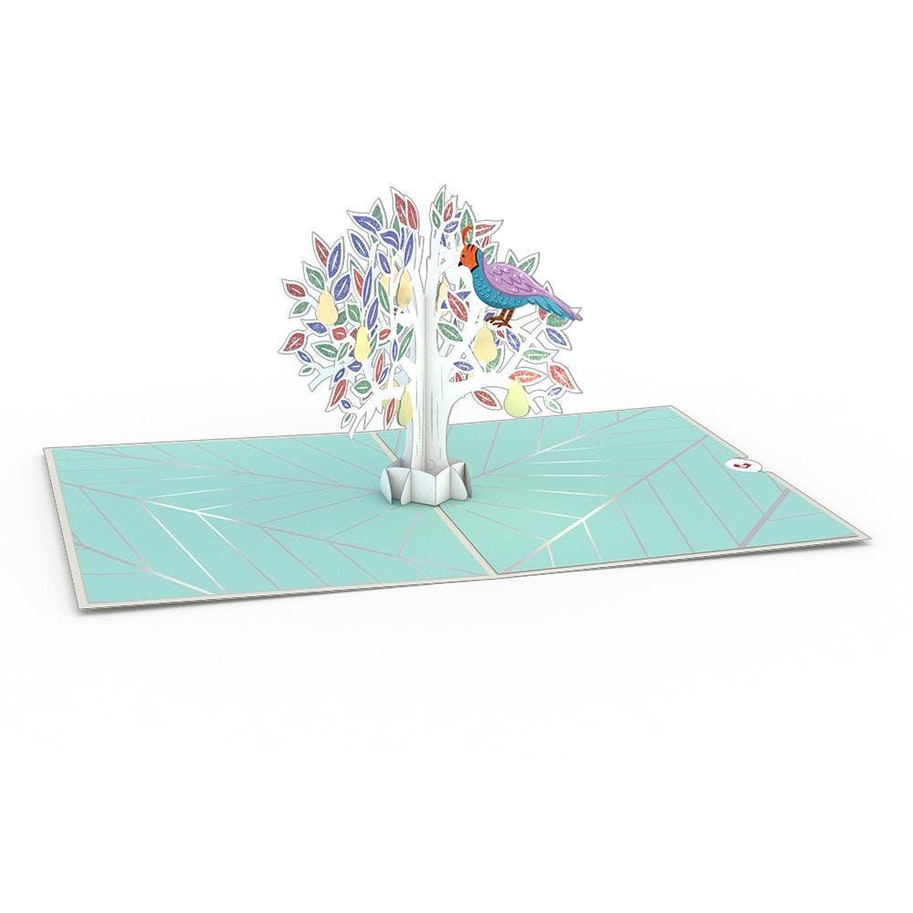 Rebhuhn im Birnbaum, Pop-Up Karte