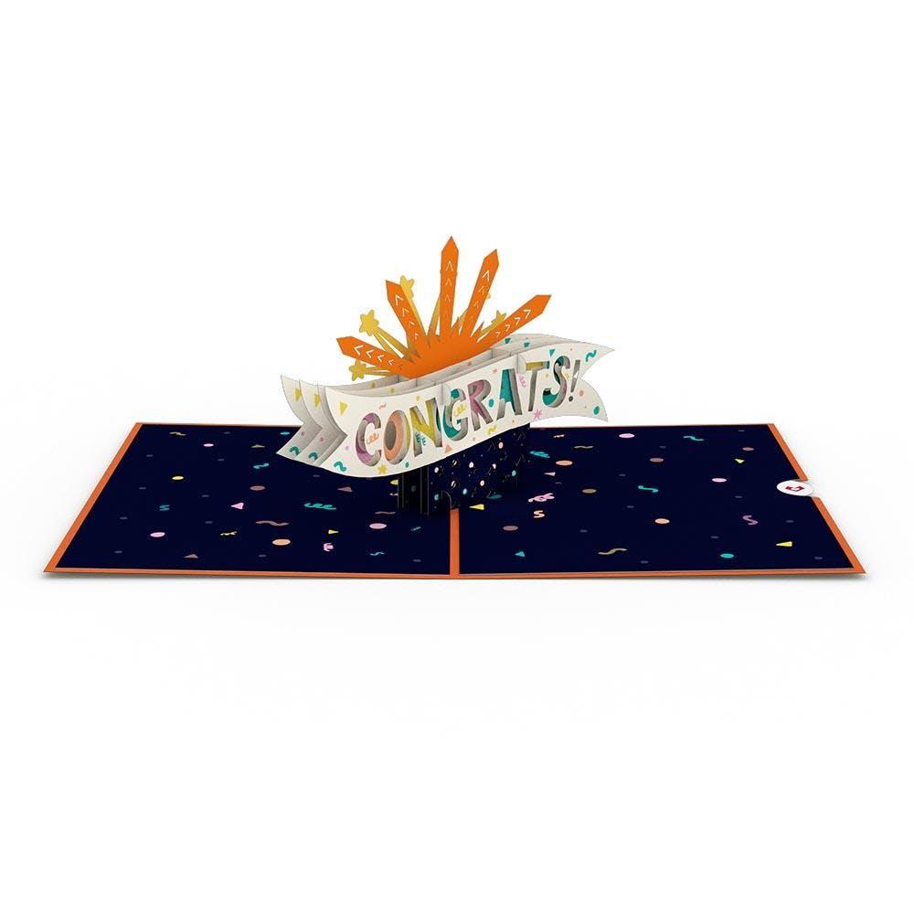 Glückwunsch-Feuerwerk, Pop-Up Karte