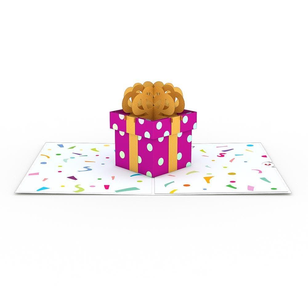 Geburtstagsgeschenk, Pop-Up Karte