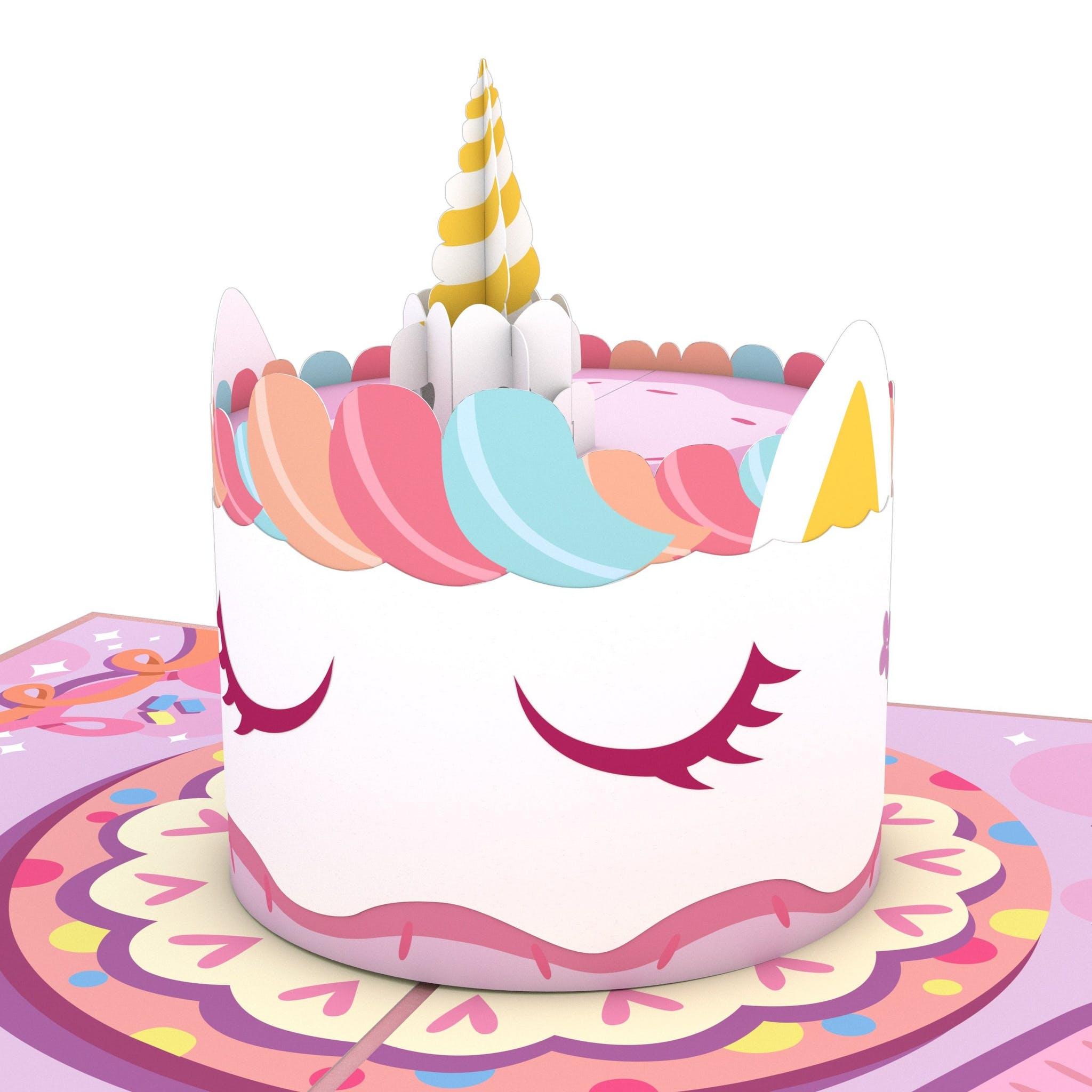 Einhorn-Torte, Pop-Up Karte