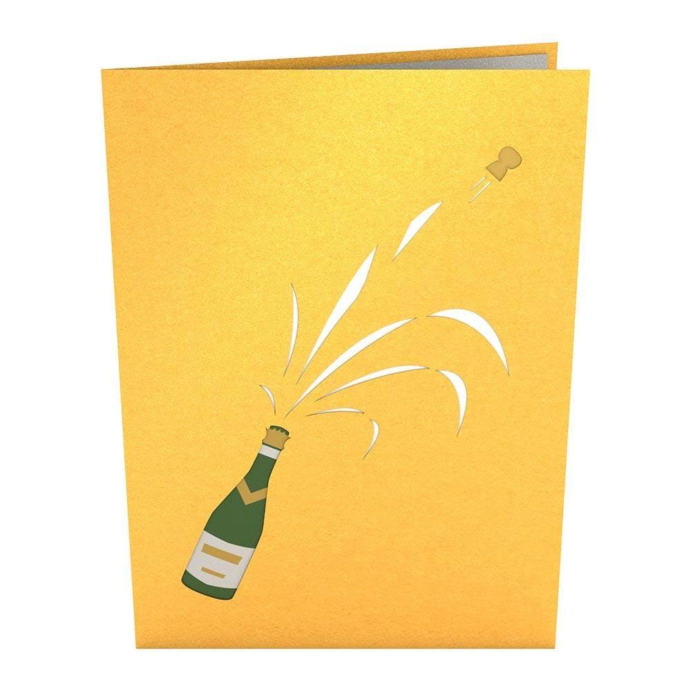 Champagner-Party, Pop-Up Karte
