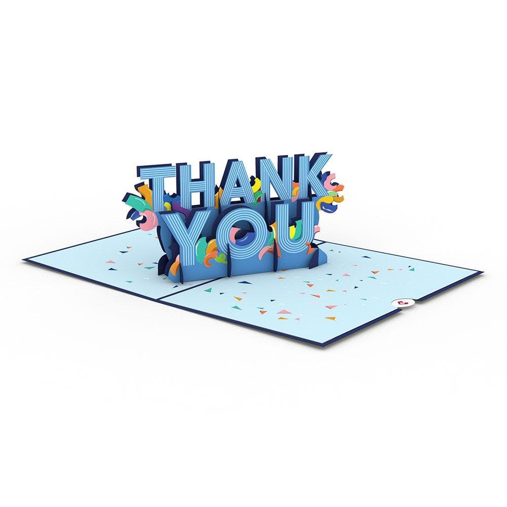 """Konfetti """"Thank you"""", Pop-Up Karte"""