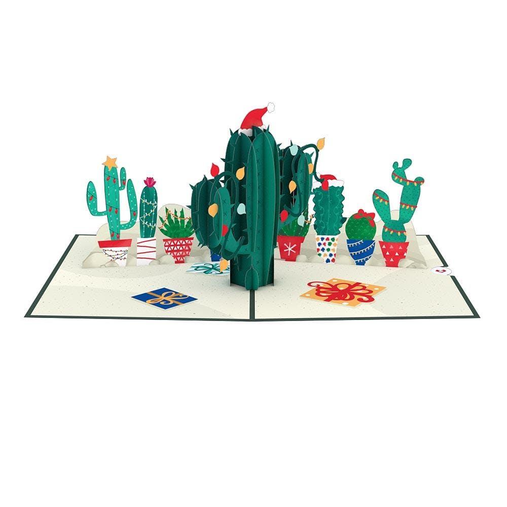 Weihnachtskaktus, Pop-Up Karte