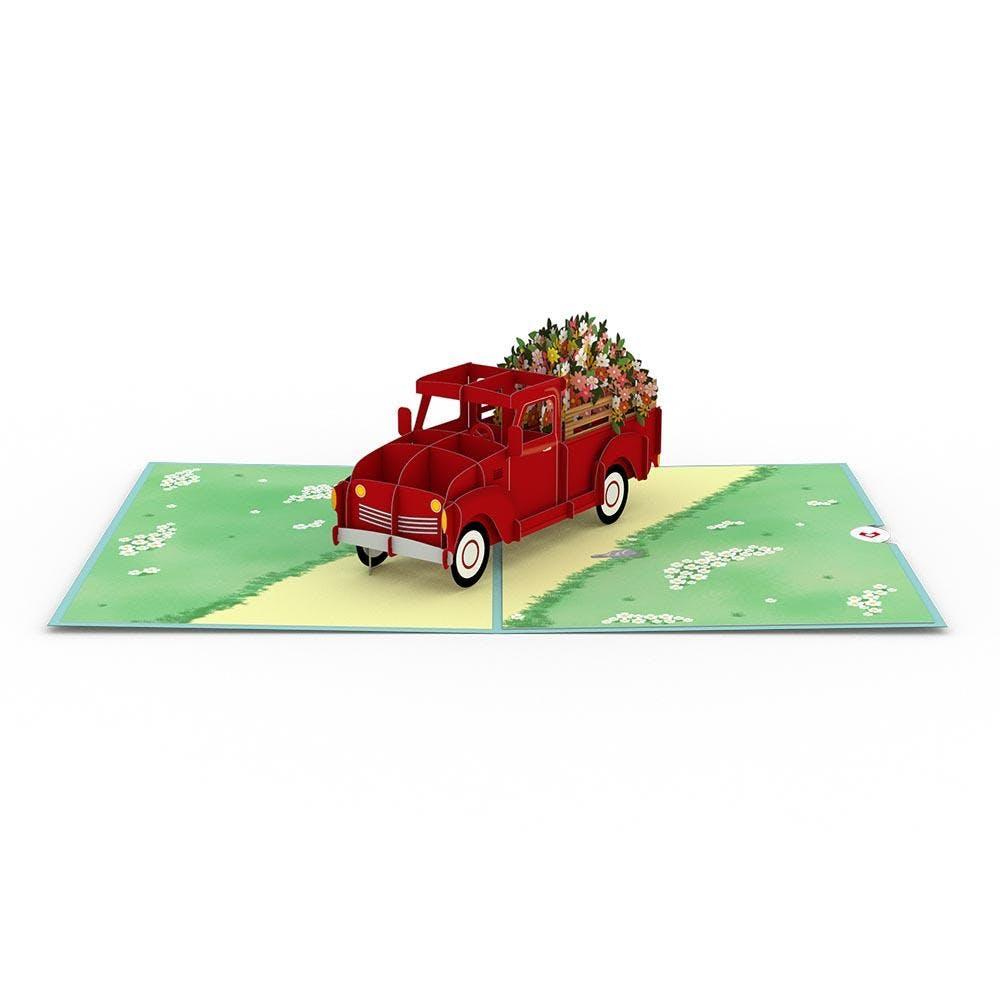 Blumenwagen, Pop-Up Karte