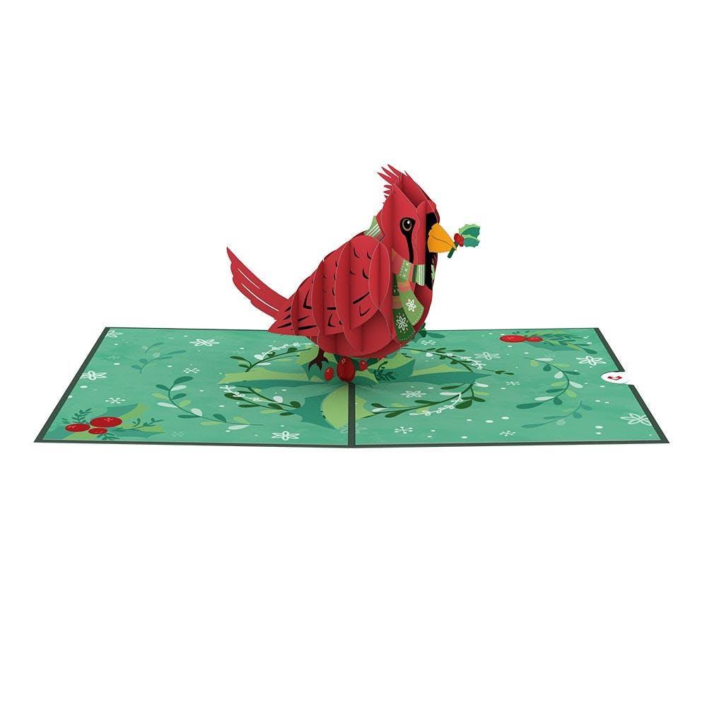 Festlicher Kardinal, Pop-Up Karte
