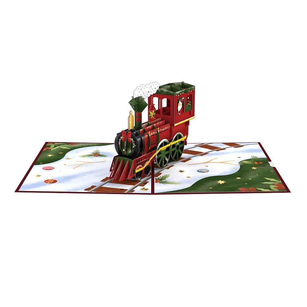 Nikolaus-Lokomotive, Pop-Up Karte