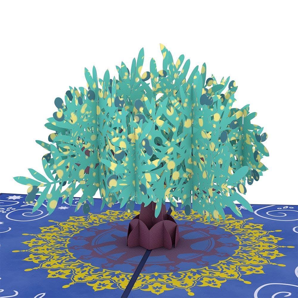 Olivenbaum, Pop-Up Karte