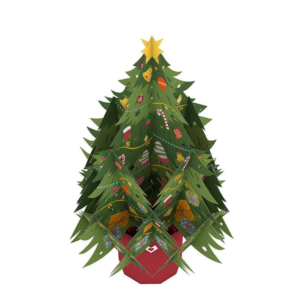 Festlicher Weihnachtsbaum, Pop-Up Blumen