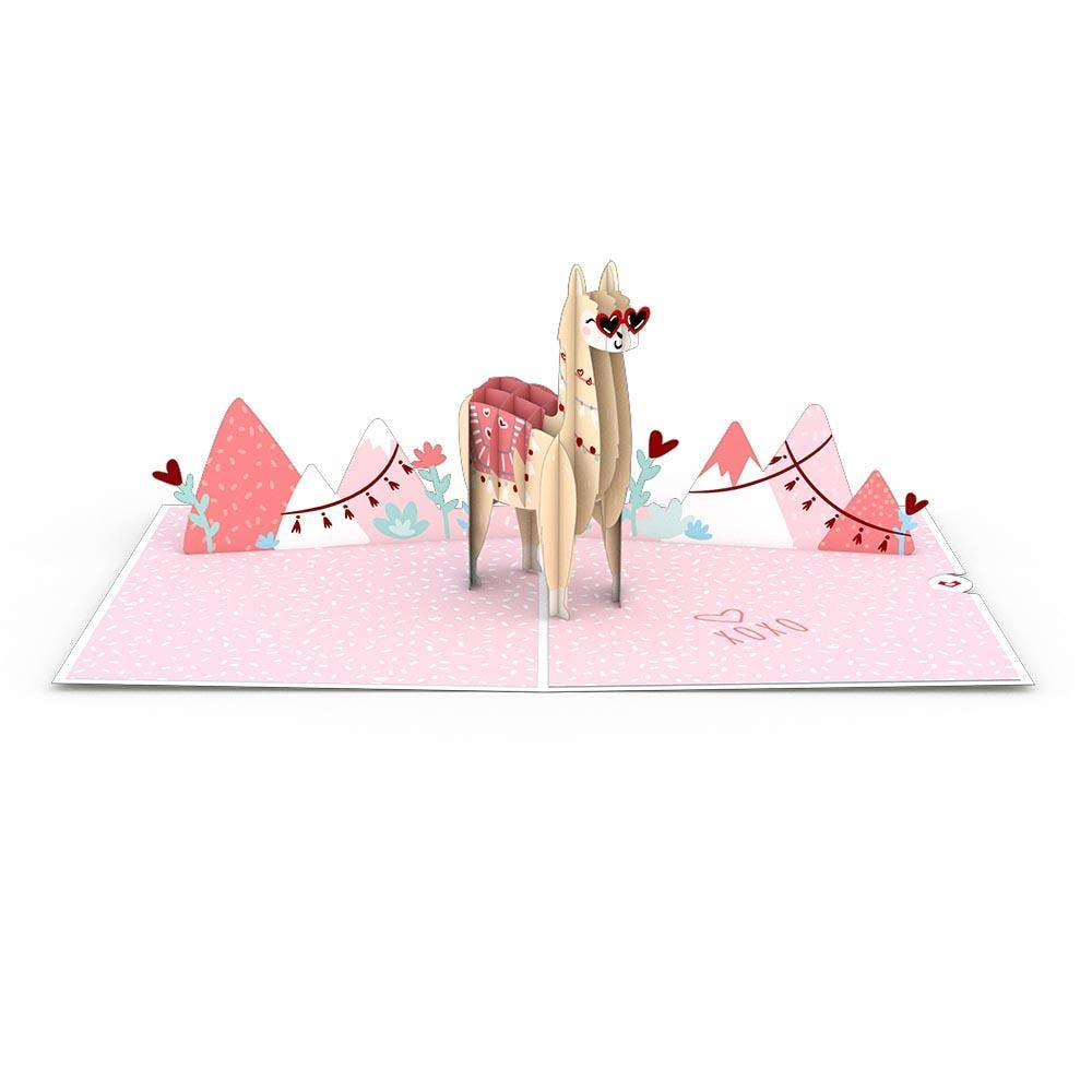 Looking-Good-Lama, Pop-Up Karte