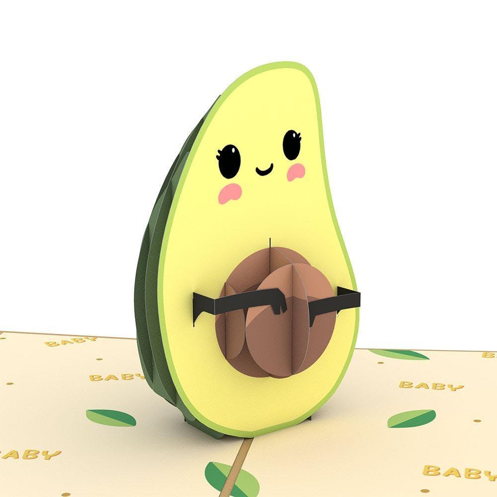 Avocado-Baby-Karte, Pop-Up Karte