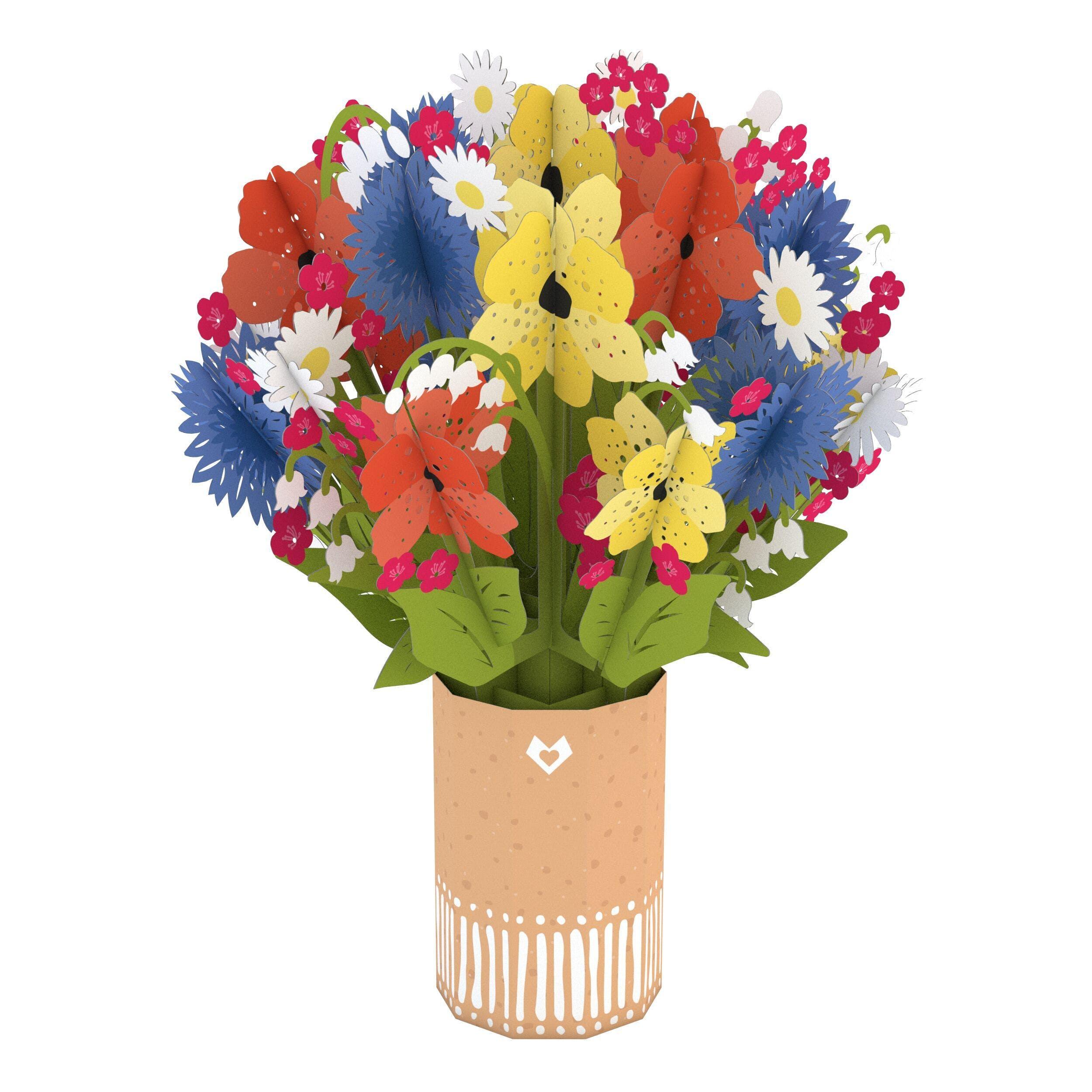 Wildblumenstrauß, Pop-Up Blumen