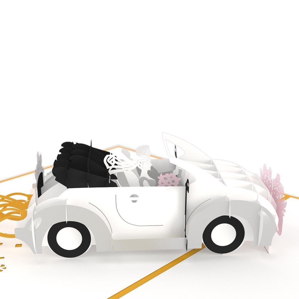 Hochzeitsauto, Pop-Up Karte
