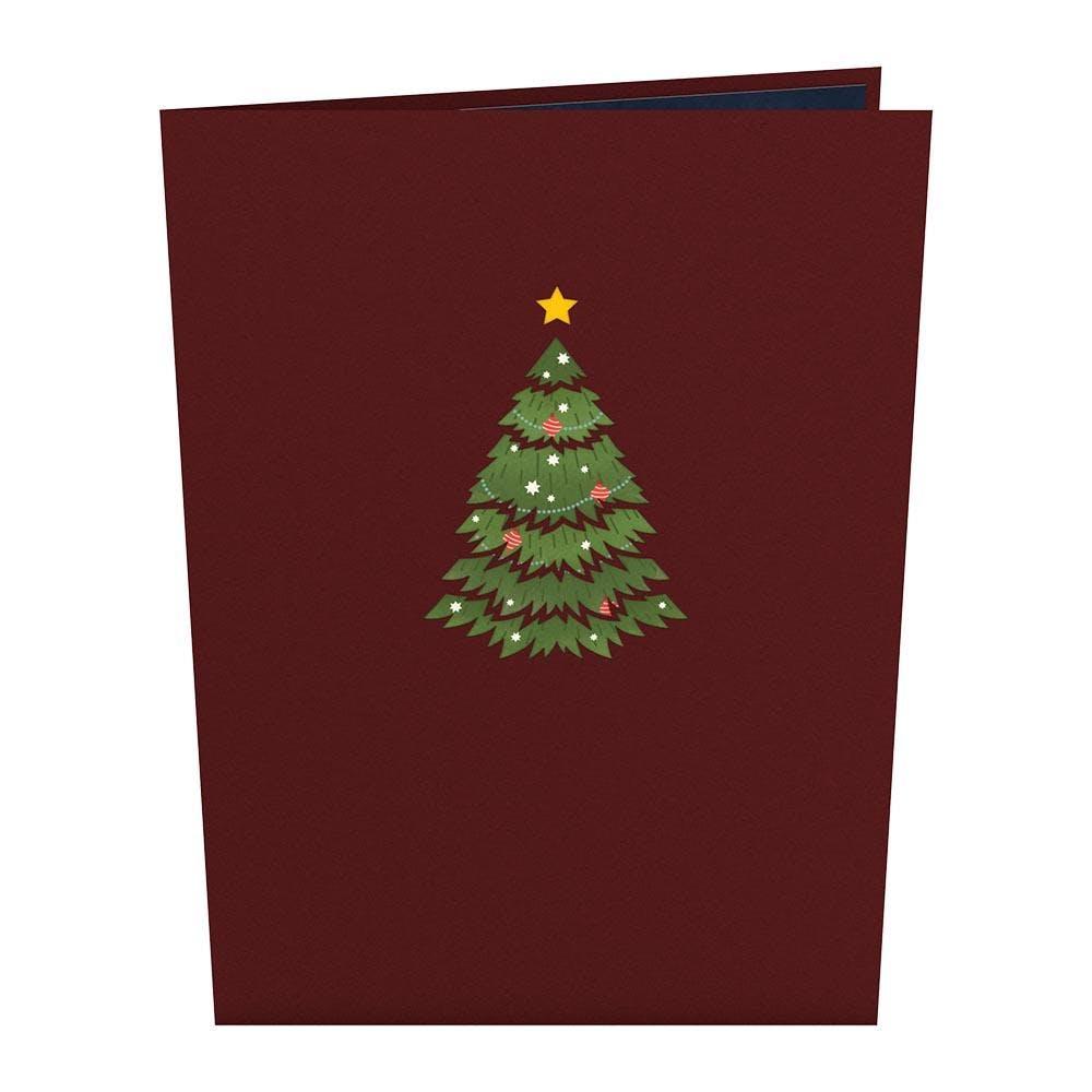 Festlicher Weihnachtsbaum, Pop-Up Karte