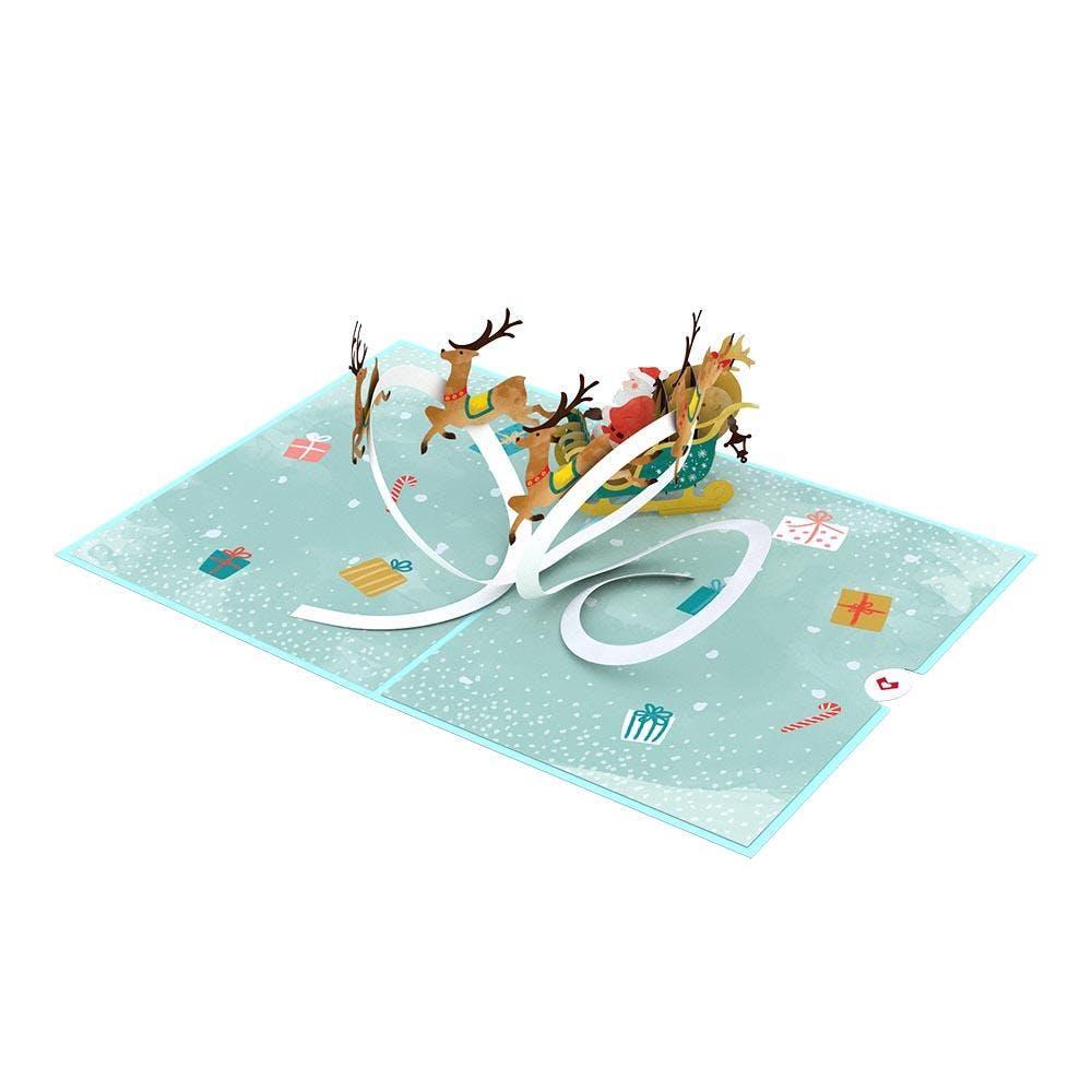 Nikolaus-Rentierschlitten, Pop-Up Karte