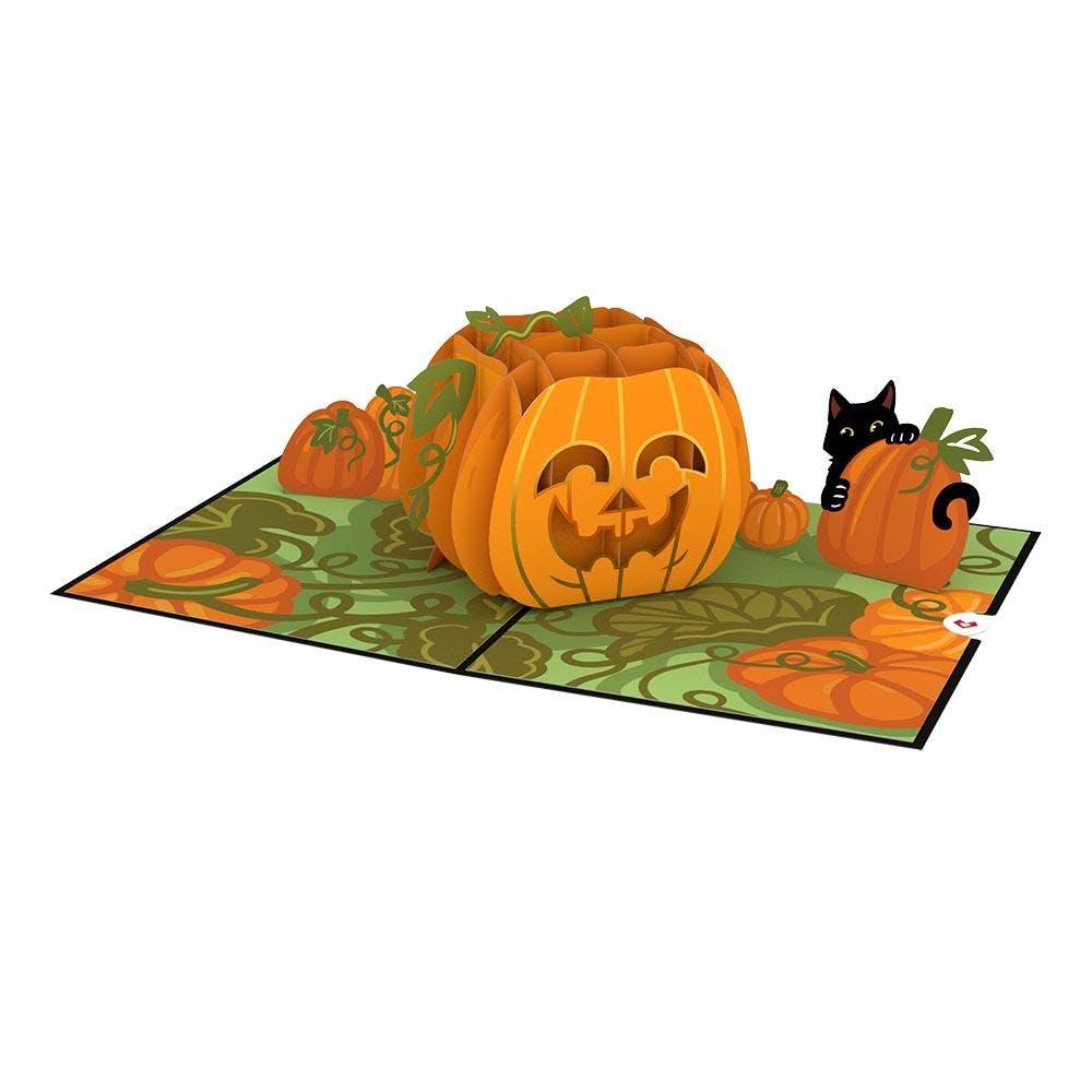 Happy-Halloween-Kürbis, Pop-Up Karte