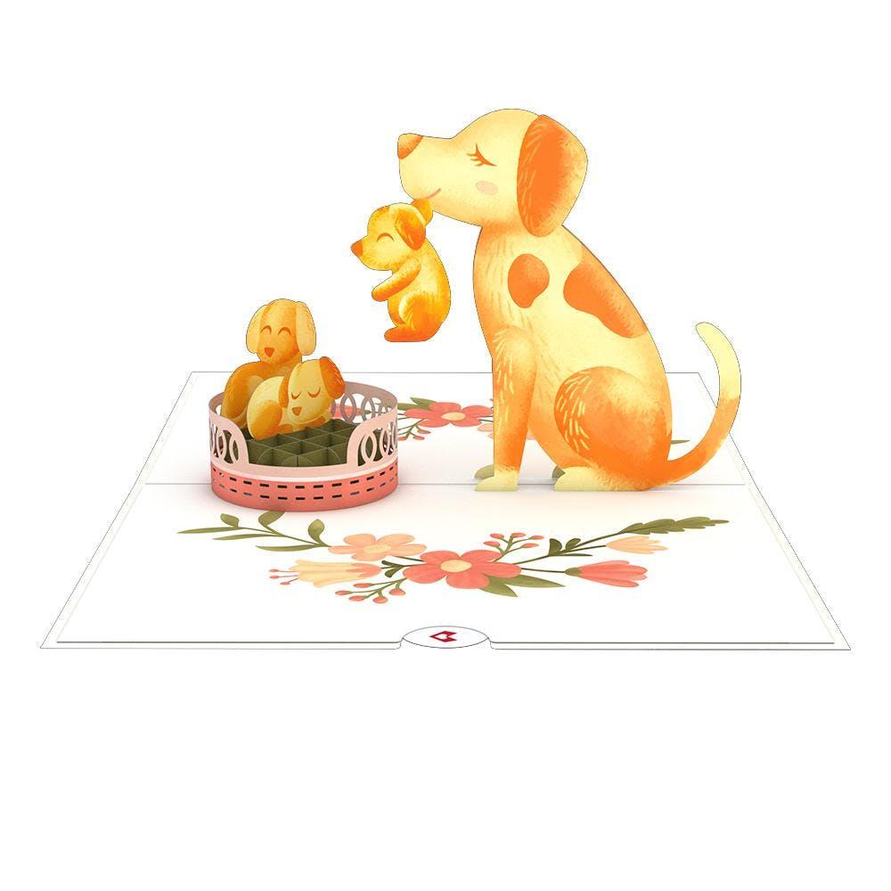 Hundefamilie, Pop-Up Karte
