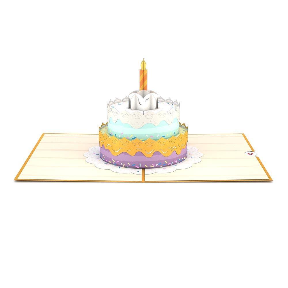 Geburtstagstorte, Pop-Up Karte