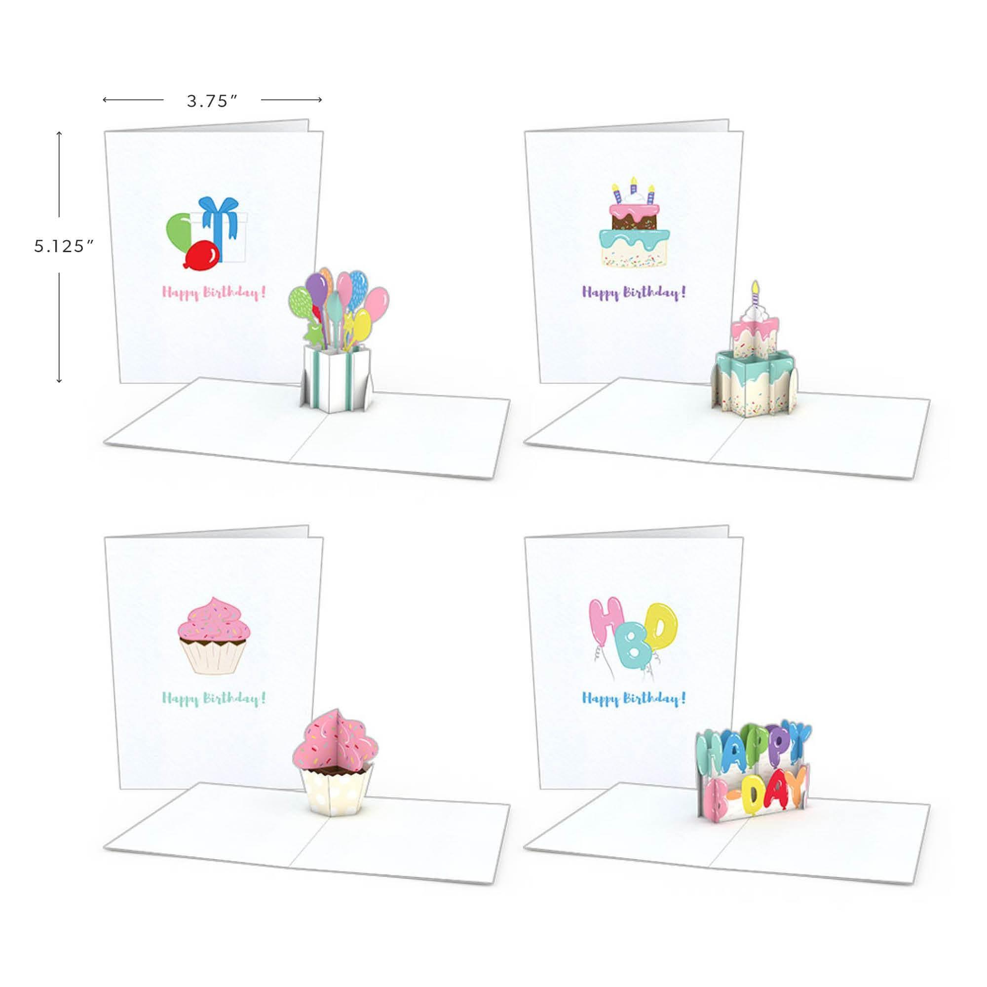 Geburtstagskarten (4er-Pack)