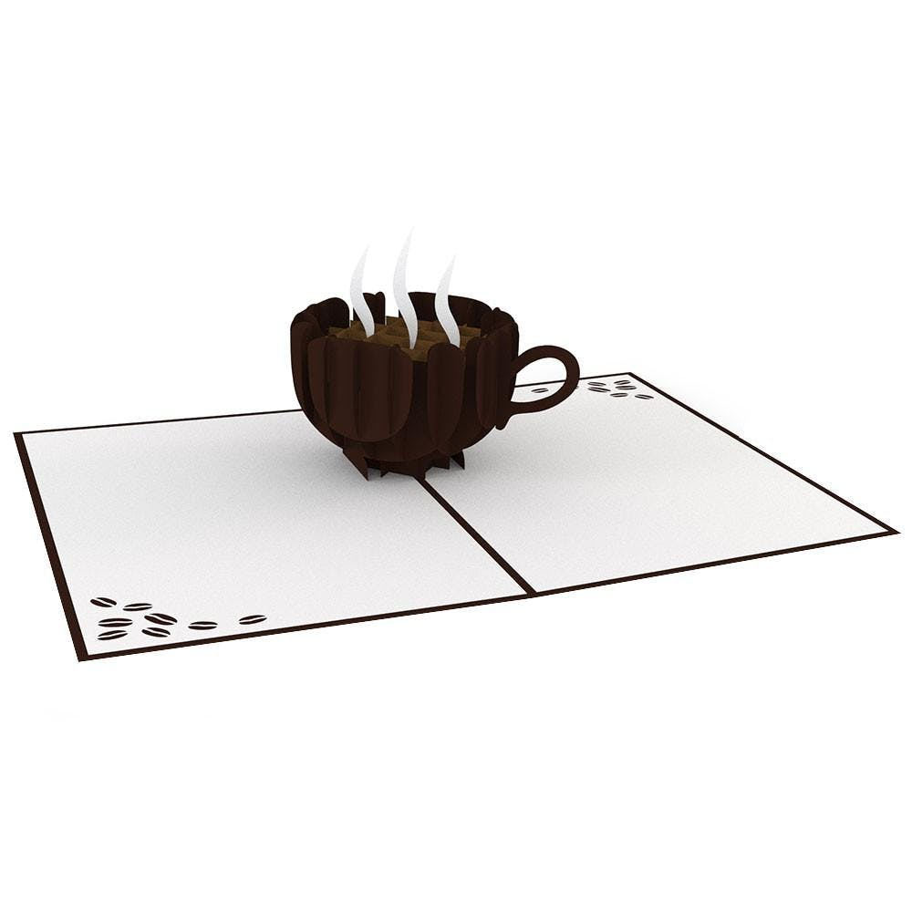 Kaffeetasse, Pop-Up Karte