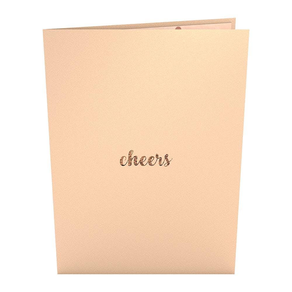 Champagner-Toast, Pop-Up Karte