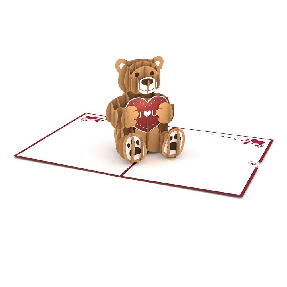 Teddybär,  Pop-Up Karte