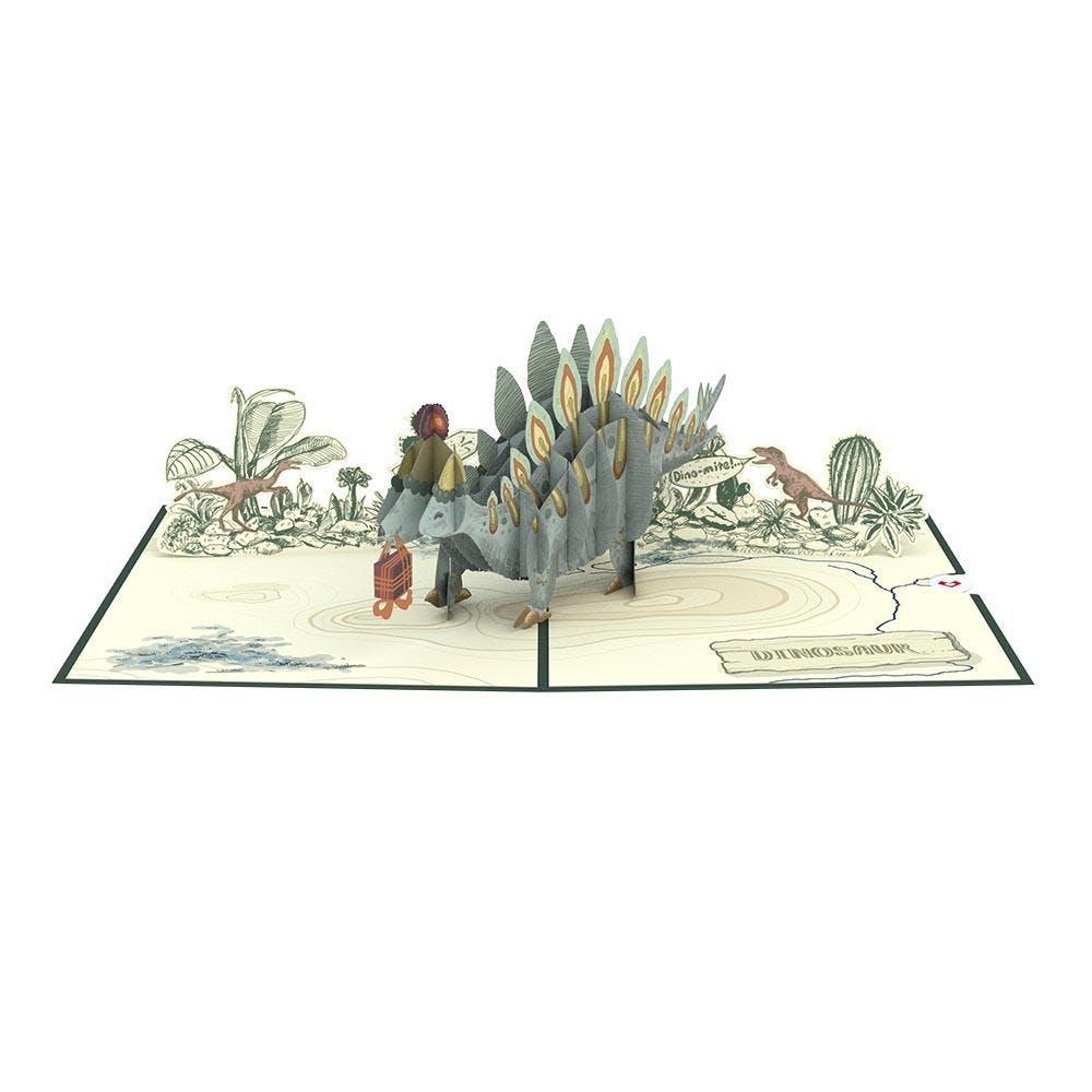 Geburtstags-Stegosaurus, Pop-Up Karte