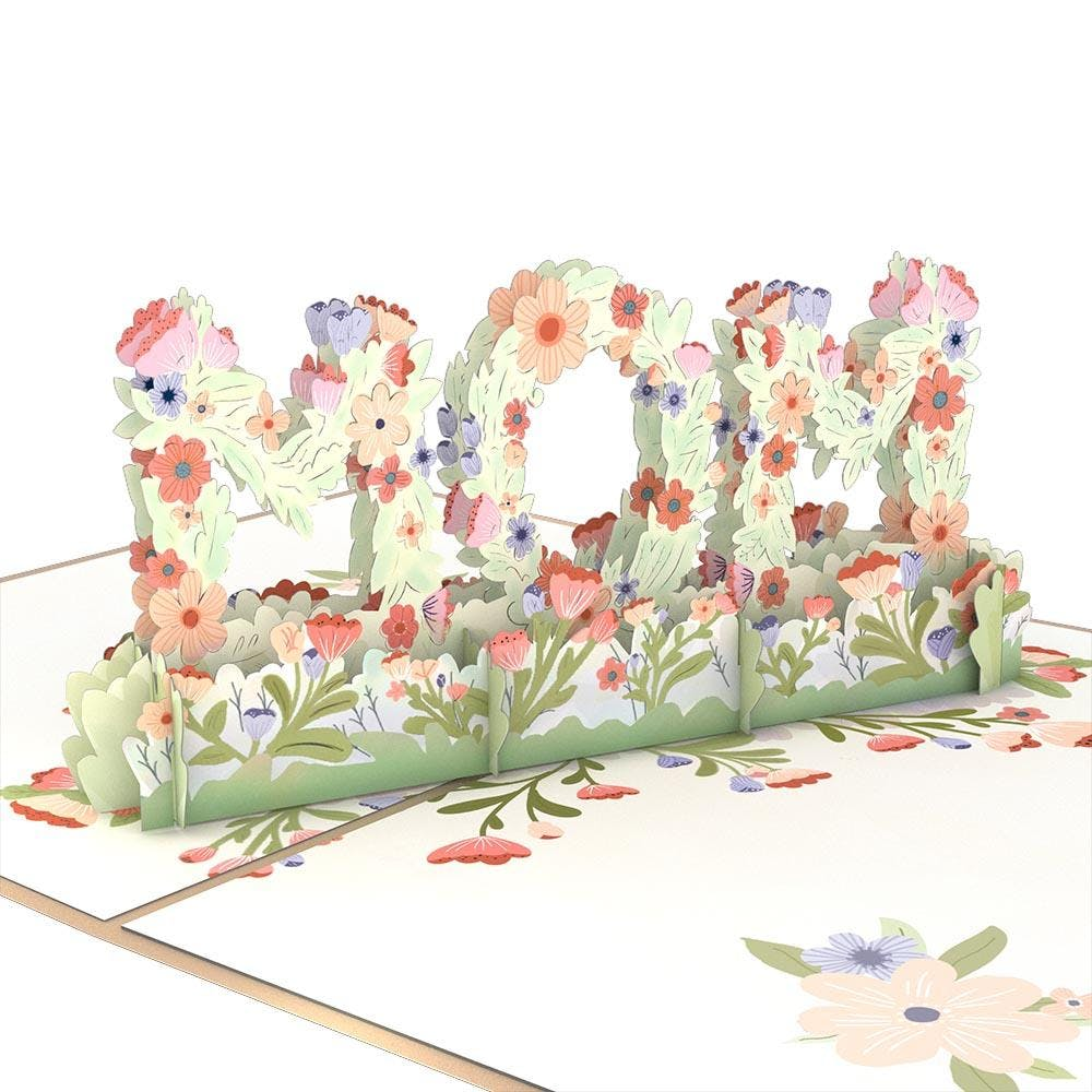 "Blumen ""Mom"", Pop-Up Karte"