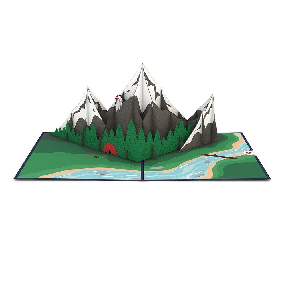 Bergwelt, Pop-Up Karte
